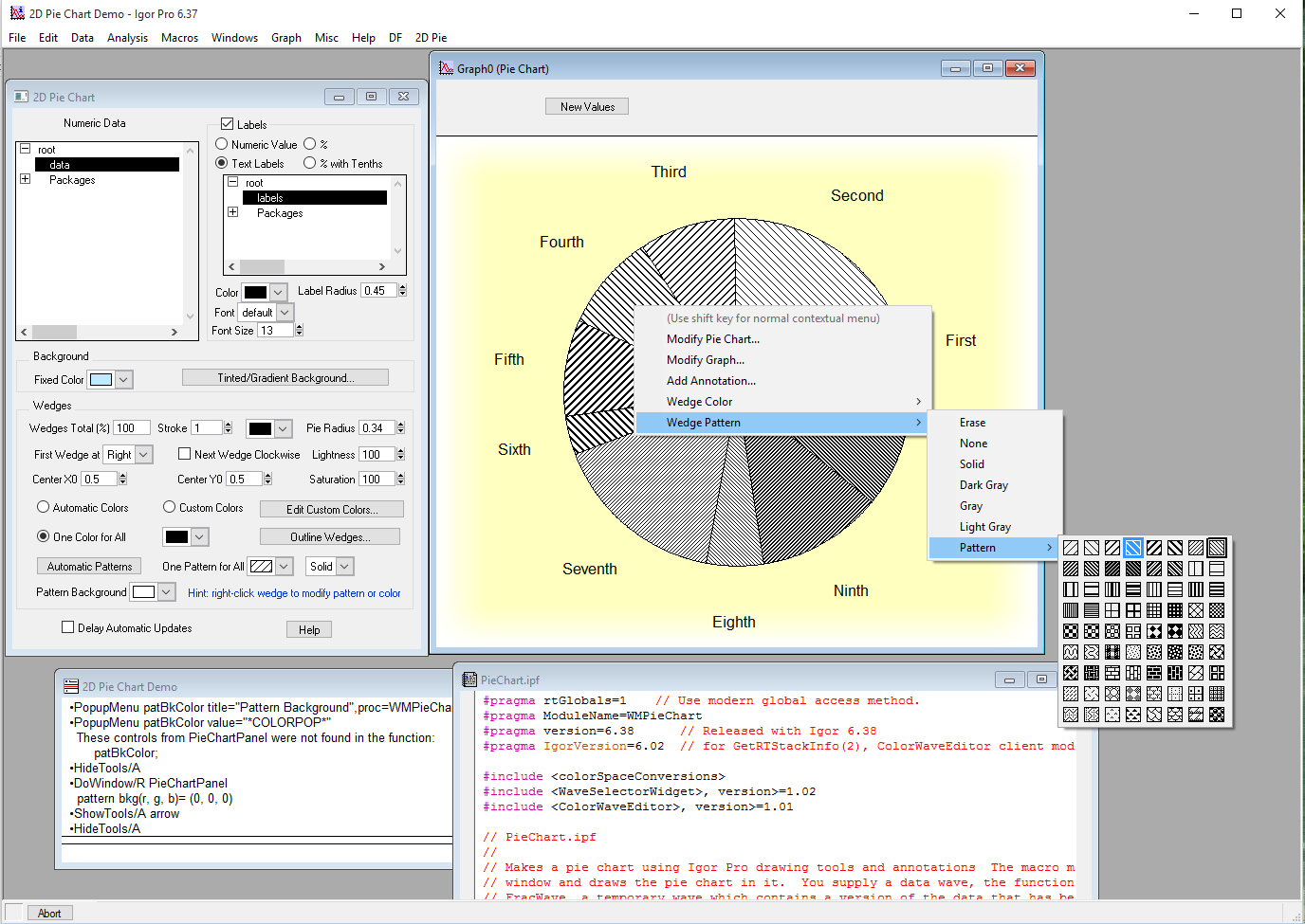 How To Save Pattern In 2d Pie Chart