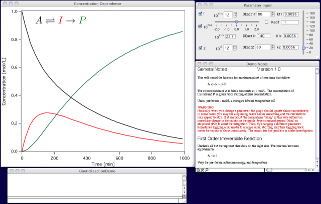 Example screenshot of Kinetics Demo Package.
