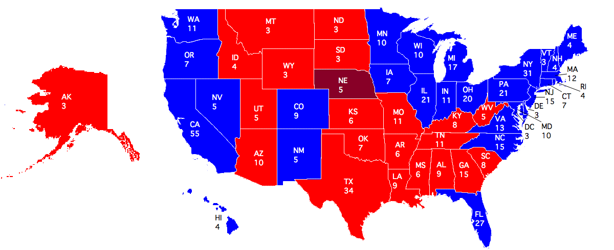 Electoral college votes by state and dc Research paper ...