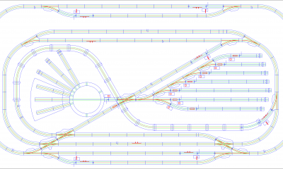 Igor graph represents the layout for a (Märklin) model railway